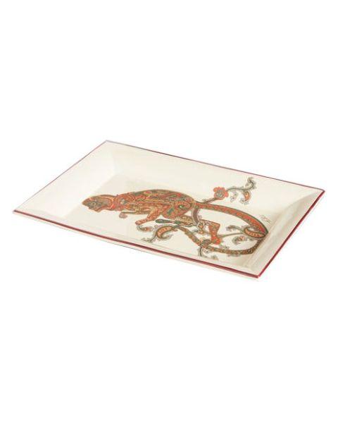 Rechthoekige keramische tray aapje