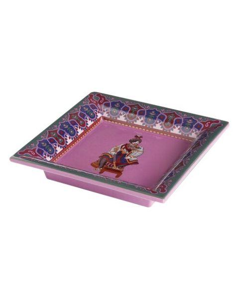 Keramische tray paisley paars