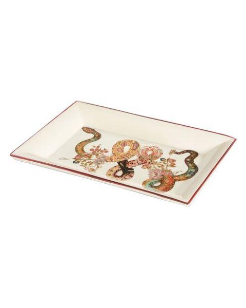 Rechthoekige keramische tray slang