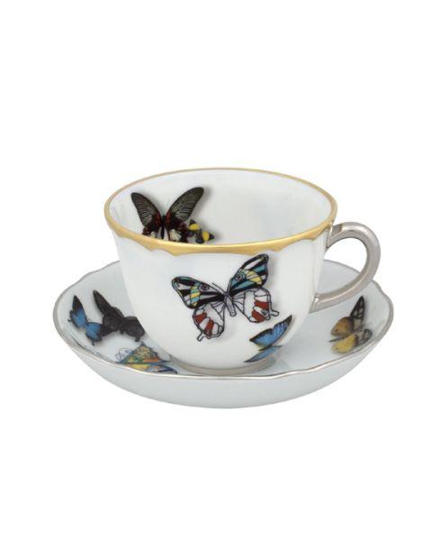 Espressokop en -schotel Butterfly
