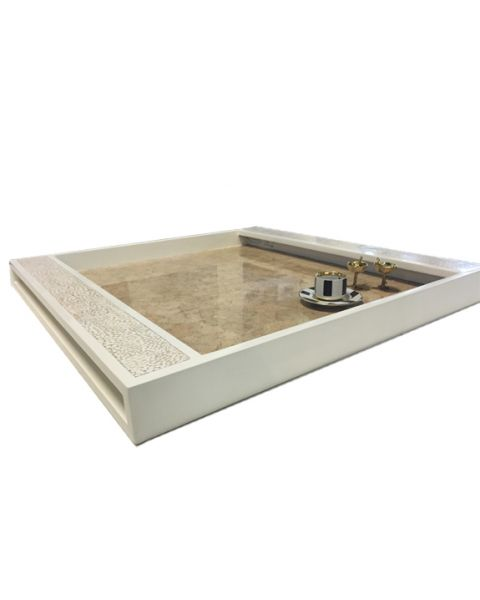 Tray Bring white 80x80