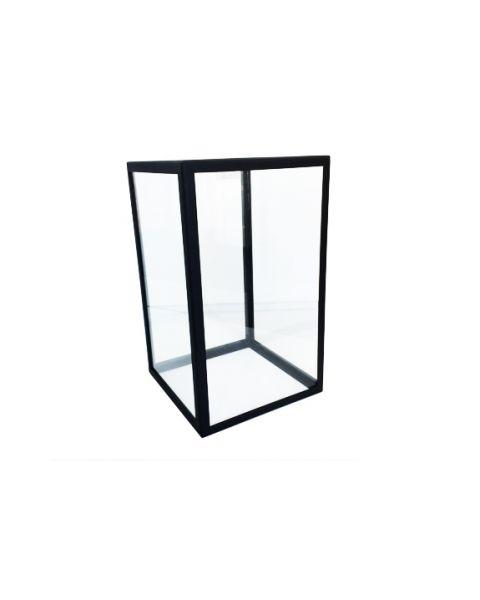 Glazen vitrine stolp