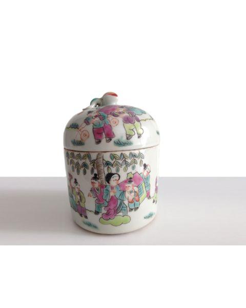 Set of 2 antique chinese storage jars