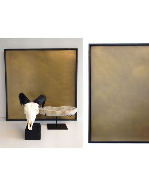 Tray Astrid brass 60x60 cm