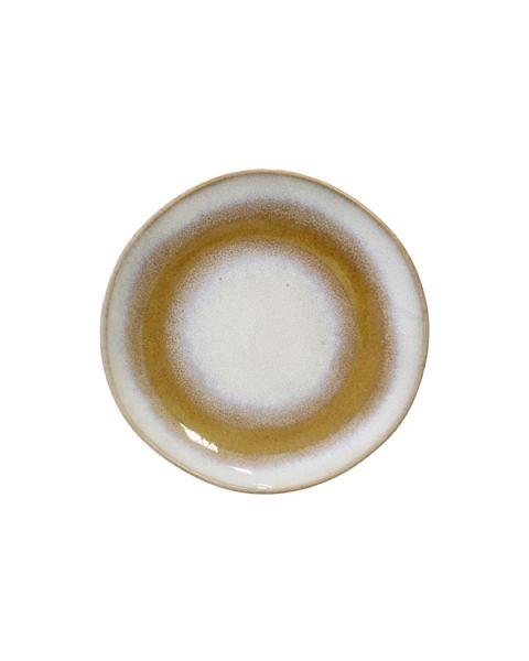 Ceramic 70's dessertbord snow