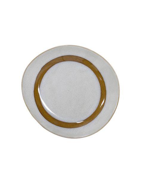 Ceramic 70's ontbijtbord snow