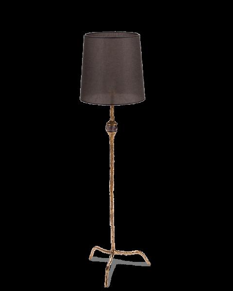 Lamp amatist shiny brass medium
