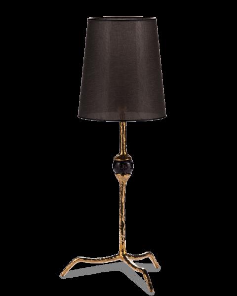 Tafellamp amatist shiny brass small