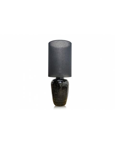 Vaaslamp antiek large black