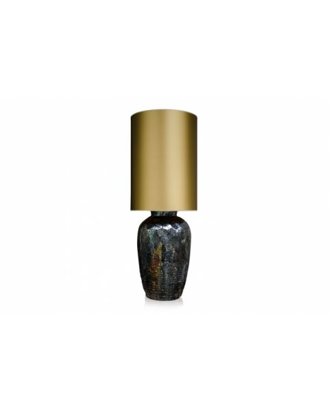 Vaaslamp antiek large gold