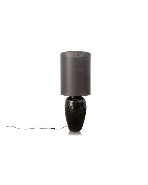 Vaaslamp  antiek medium black