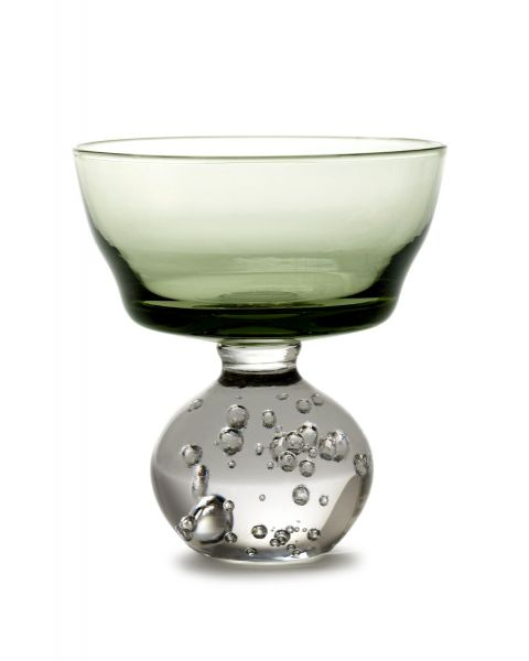 Glas M eternal snow groen