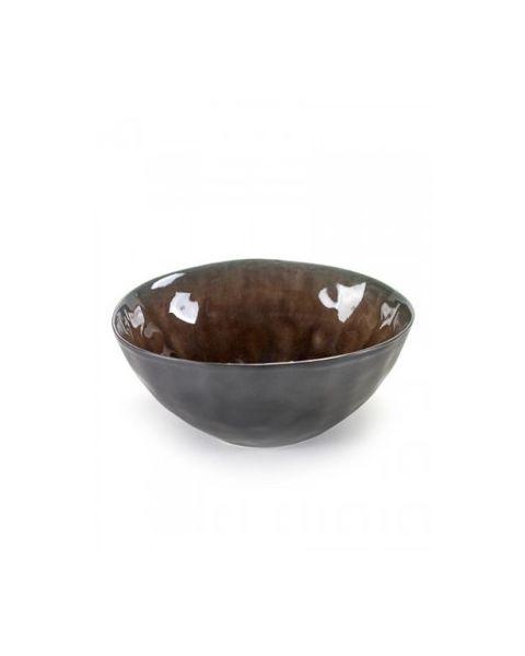 Schaaltje Pure 16 cm bruin