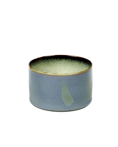 Beker recht laag smokeyblue/mistygrey 5 cm