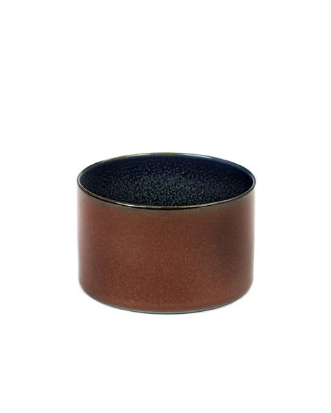 Beker recht laag rust/darkblue 5 cm