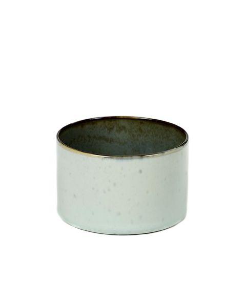 Beker recht laag light blue/smokeyblue 5 cm