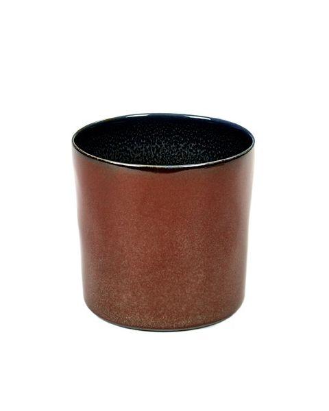 Beker recht hoog rust/darkblue 7,5 cm