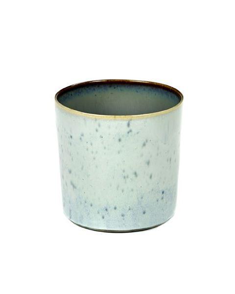 Beker recht hoog lightblue/smokeyblue 7,5 cm