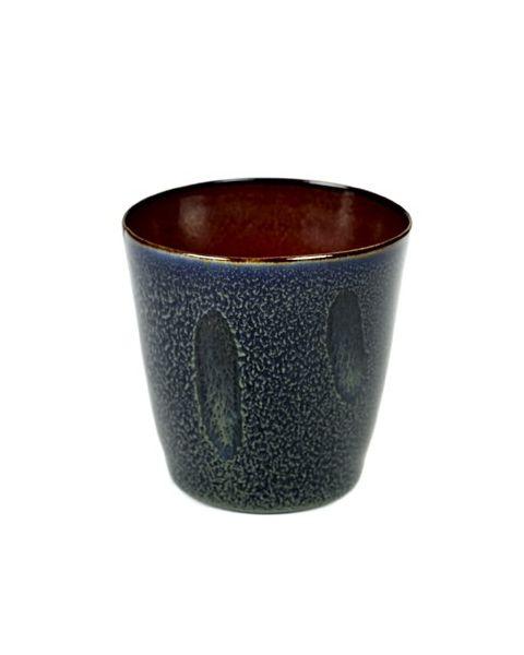Beker S conisch darkblue/rust 7,5 cm