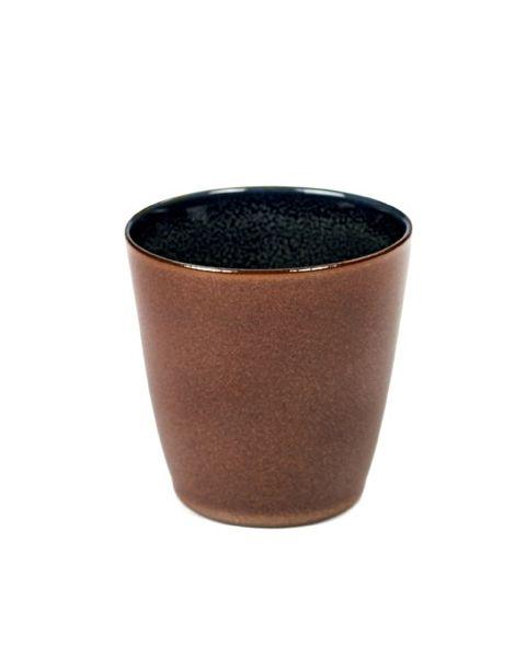 Beker S conisch rust/darkblue 7,5 cm