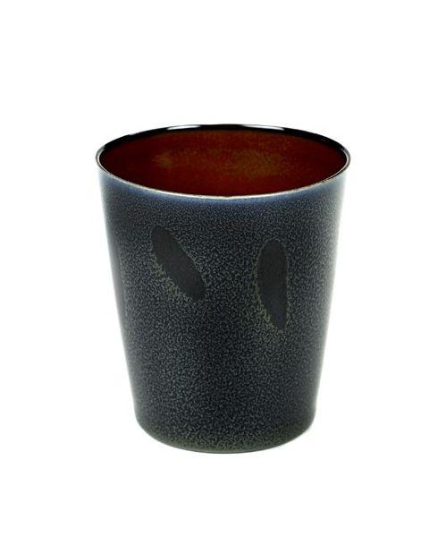 Beker M conisch darkblue/rust 9,5 cm