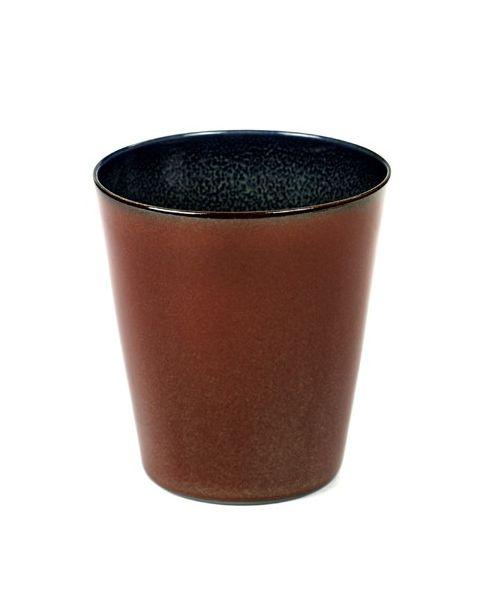 Beker M conisch rust/darkblue 9,5 cm