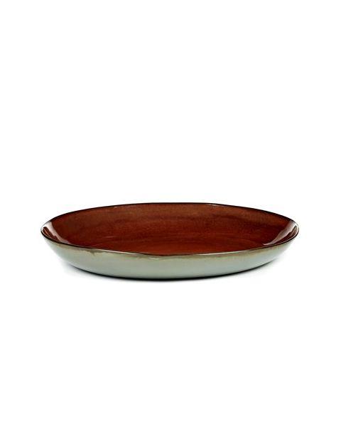 Schaal XL Rust/ Smokey blue 35,5 cm
