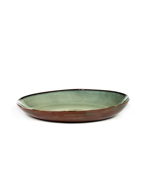 Schaal XL mistygrey/rust 35,5 cm