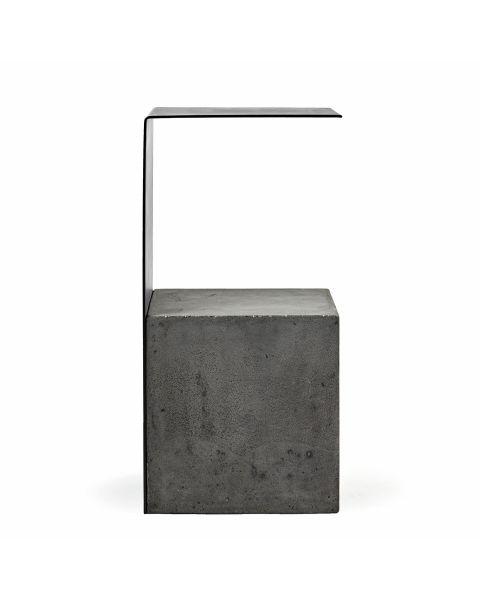 Bijzettafel beton staal