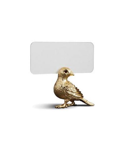 l'objet placecardholder bird set of 6 gold