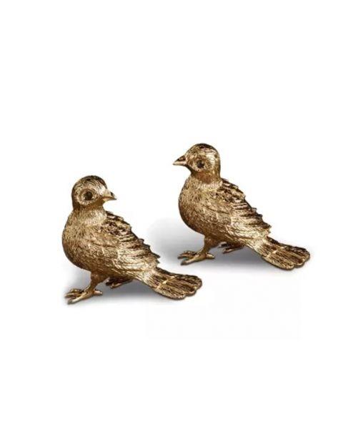 l'objet salt en pepper bird gold
