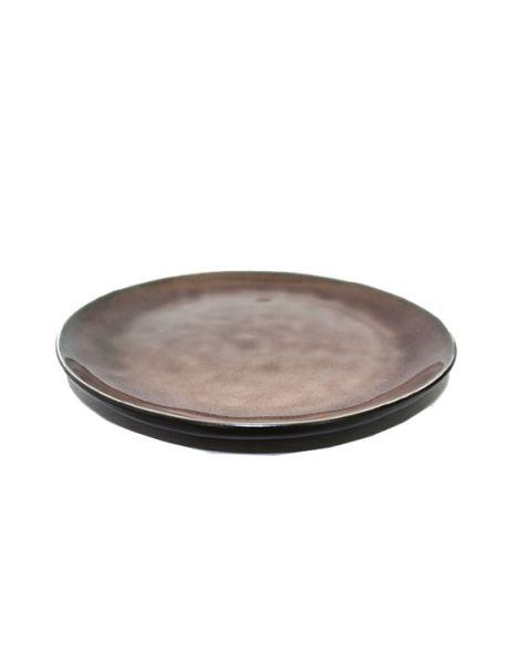 Rond bord small Pure bruin