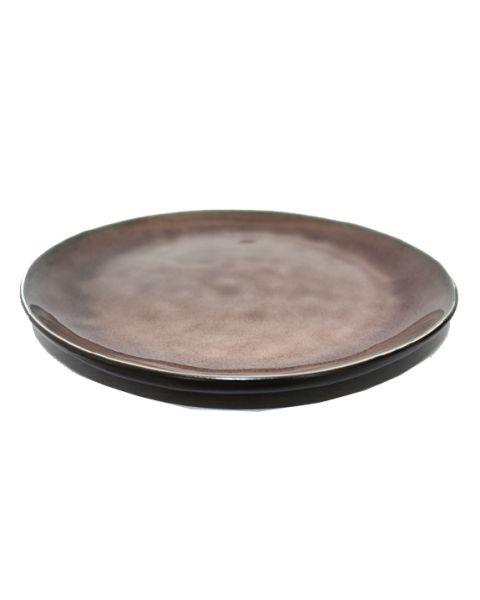 Rond bord medium Pure bruin