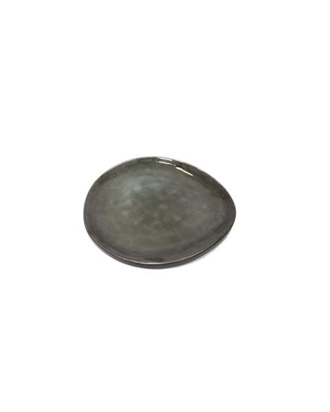 Ovaal bord small Pure grijs