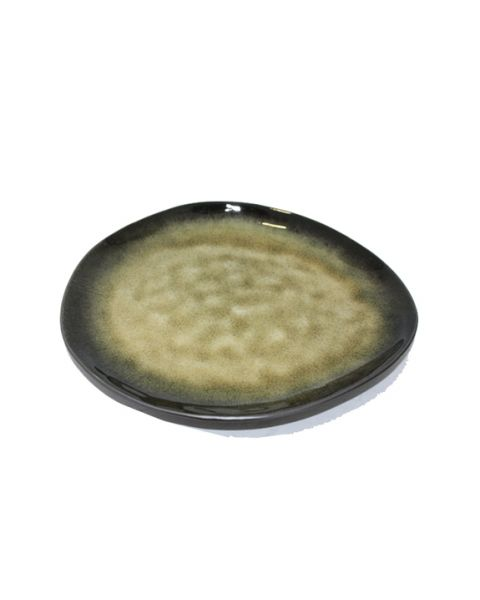 Ovaal bord medium Pure groen