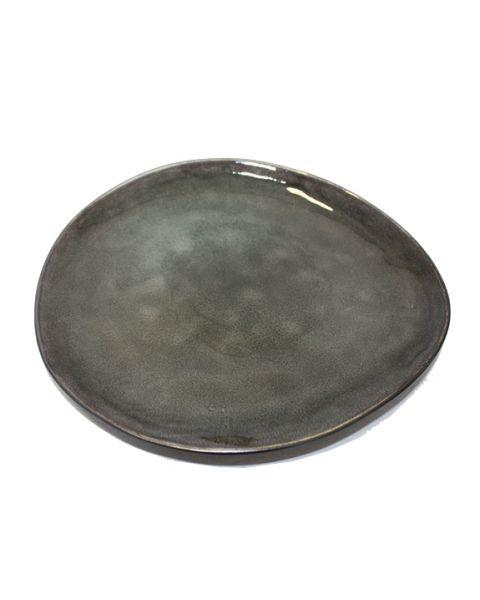 Ovaal bord large Pure grijs
