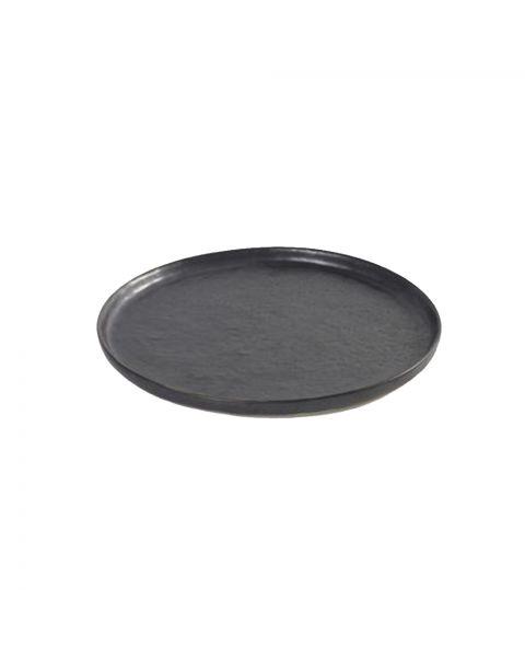 Ontbijtbord Pure zwart