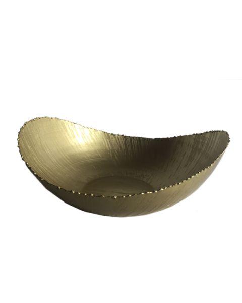 Bowl golden metal large