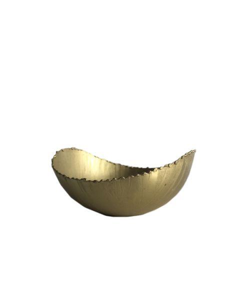 Bowl golden metal small