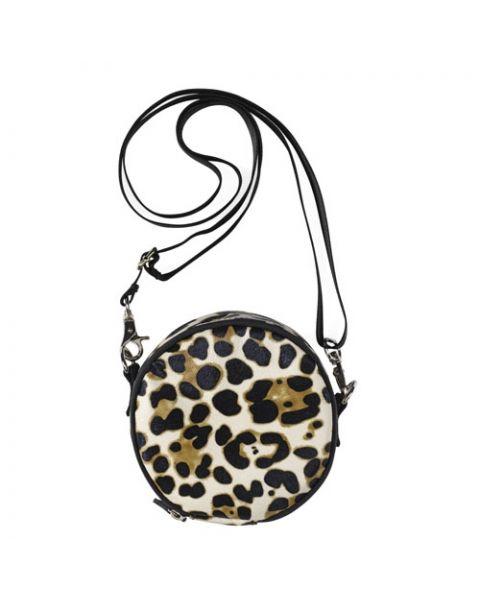 Schoudertasje box leopard
