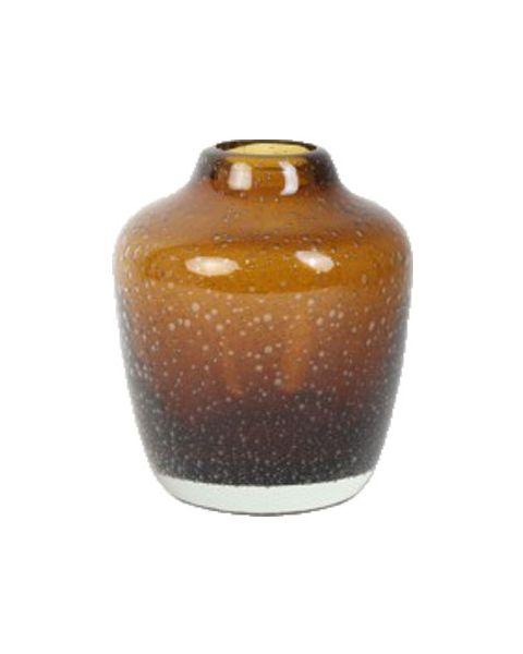 Kiah glazen vaas bruin
