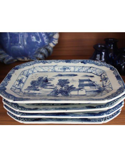 Set van 4 oude Chinese schaaltjes
