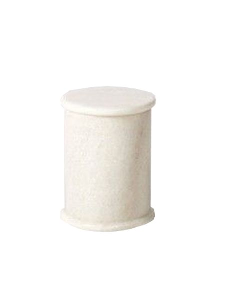 Cotton wool holder - silvan white