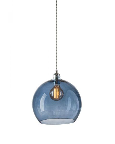 Bollamp glas deep blue