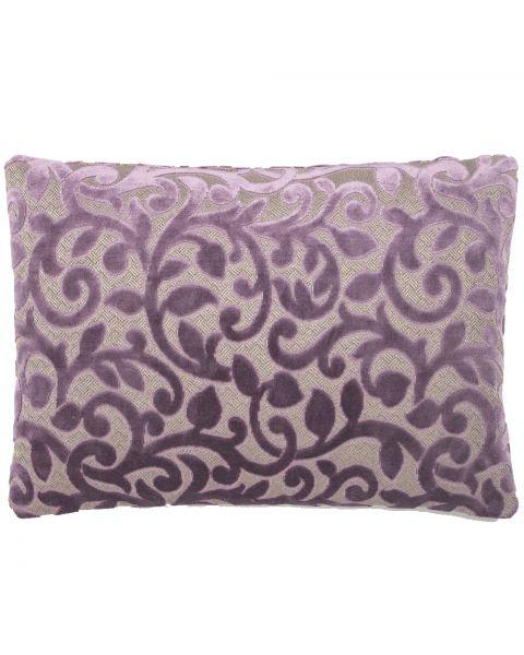 Kussen A&E originals flower purple rechthoekig