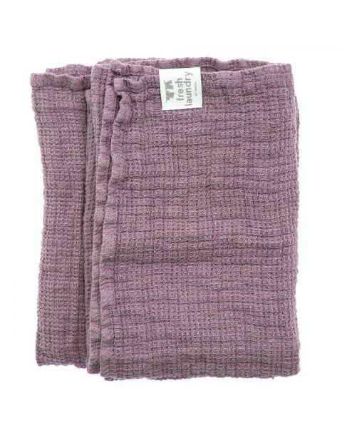 Fresh laundry handdoek mauve