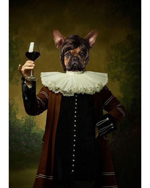 Glasschilderij Klassiek Hond 60 x 90 cm