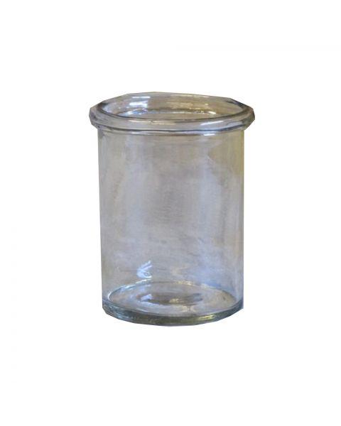 Glazen vaasje helder 14 cm