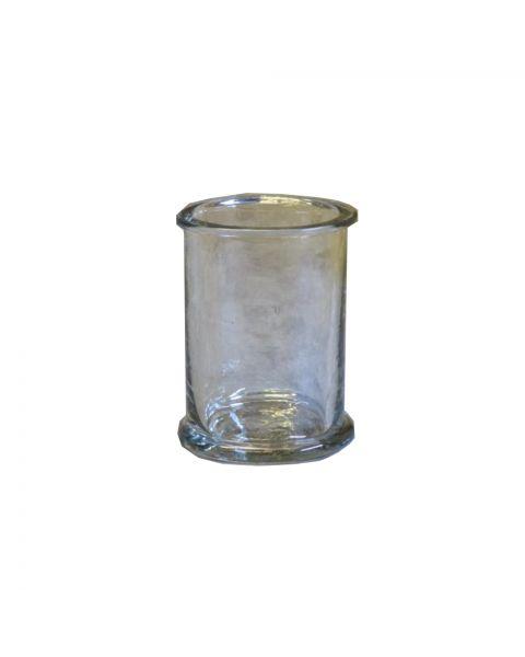 Glazen vaasje/waxinelichtje helder 12 cm