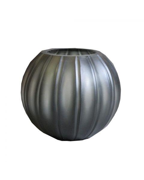 Vaas gegraveerd  14 cm hoog grijs